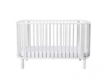 Flexa Baby Dětská postýlka 5 v 1 Bílá