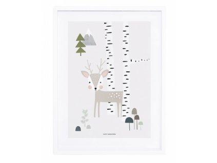 lamina bosque bebe enmarcada ninos lilipinso p0206c