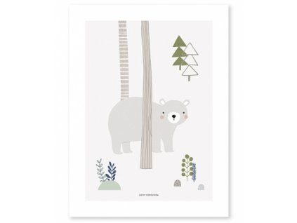 poster oso bosque infantiles bebe lilipinso p0207 (1)