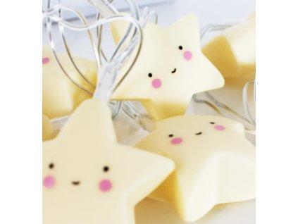 string light stars yellow