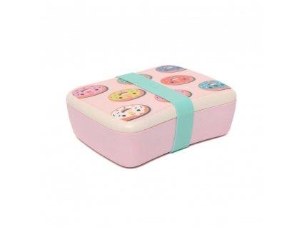 bamboo lunchbox donuts pink blb14 b