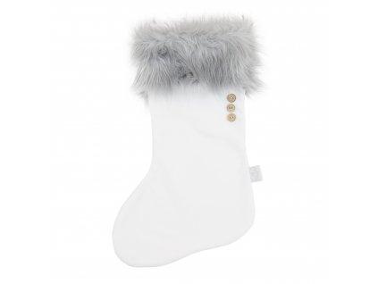 Vánoční punčocha Bílá/šedá