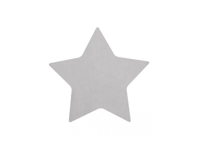 h0456 tapis etoile gris bebe