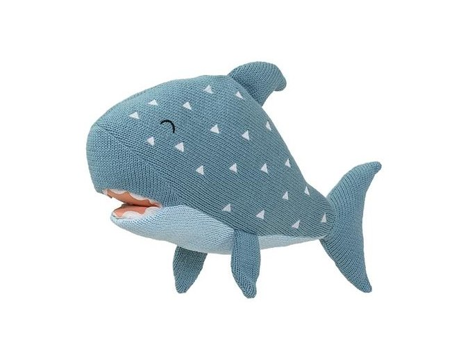 bloomingville knitted toy shark 01