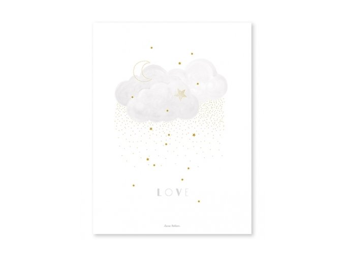 affiche nuage love p0286