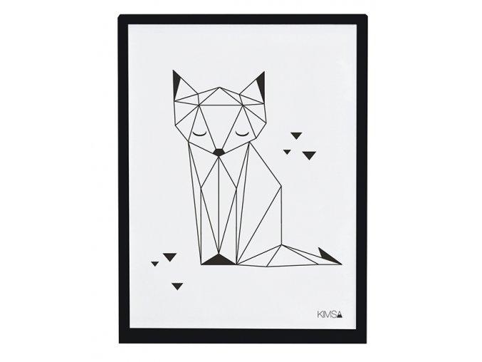 Lilipinso Plakát Fox Black and White 40 x 30 cm