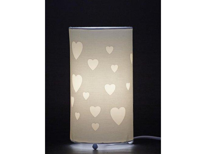 Aratextil Stolní lampička Love Blanco