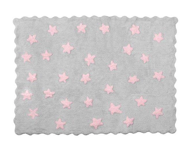 Aratextil Koberec Eden šedo růžový 120 x 160 cm