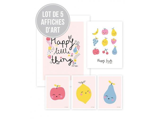 Lilipinso Plakáty Fruits 5 ks