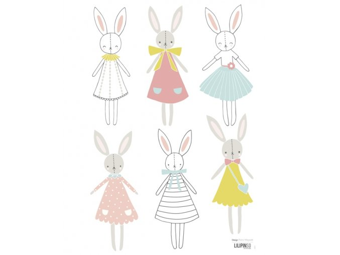 Lilipinso Samolepka Rabbit Girl dolls