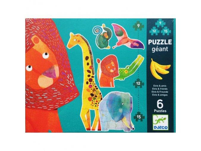 Djeco Puzzle Evlis a přátelé