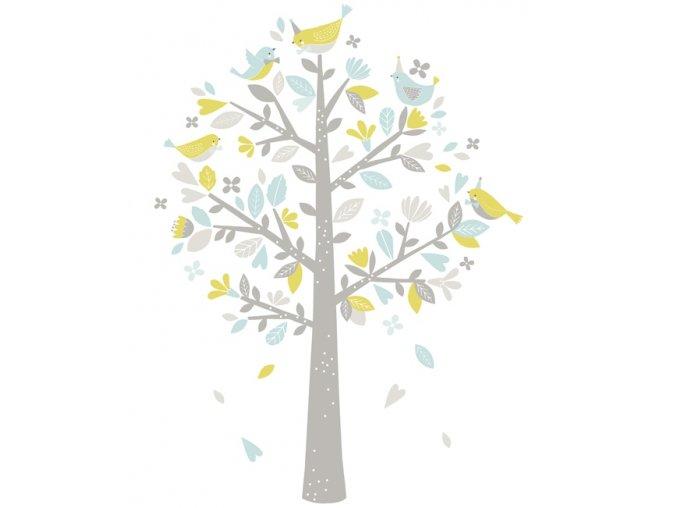 Lilipinso Samolepka strom modro zelený