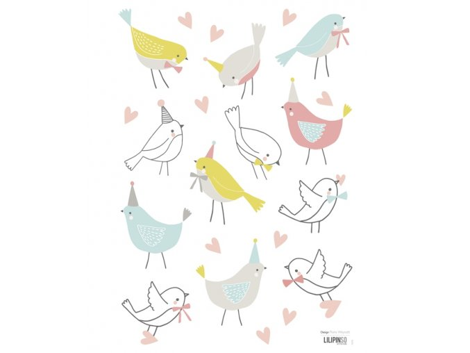 Lilipinso Samolepka Birds