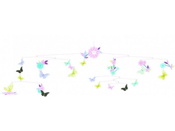 Djeco Závěsná dekorace Létající motýli