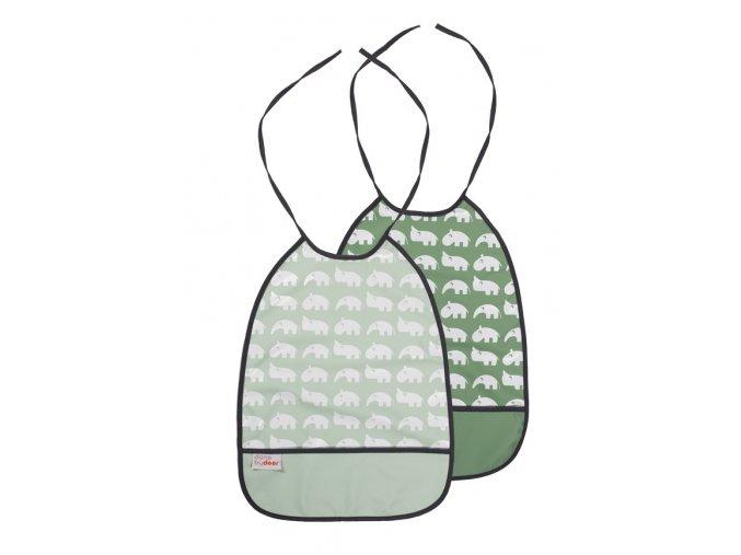 DONE BY DEER Set 2 ks bryndáčků - odstíny zelené