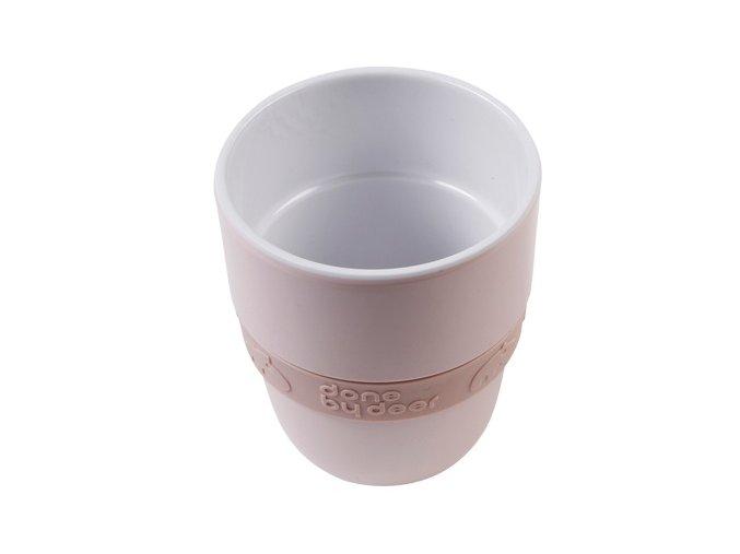 DONE BY DEER Hrníček Elphee Yummy mug se silikonovým kroužkem - růžový