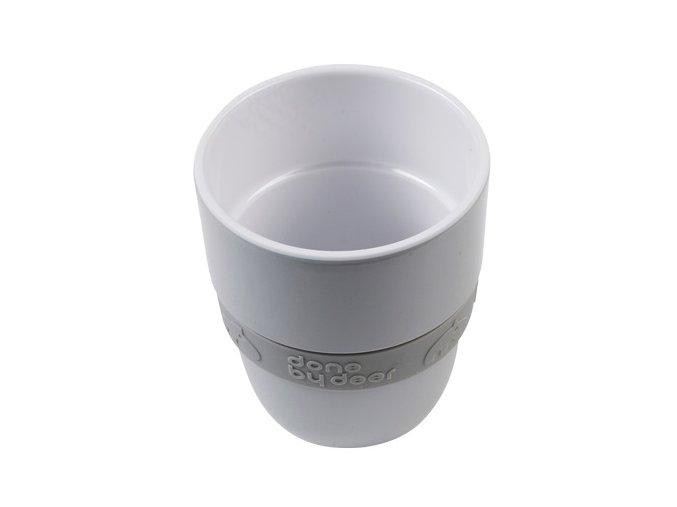 DONE BY DEER Hrníček Elphee Yummy mug se silikonovým kroužkem - šedý