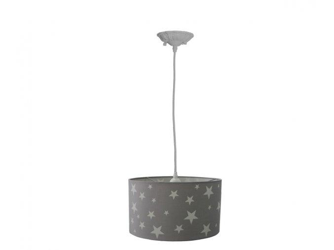 Aratextil Závěsná lampa Martina šedá 26 x 40 cm