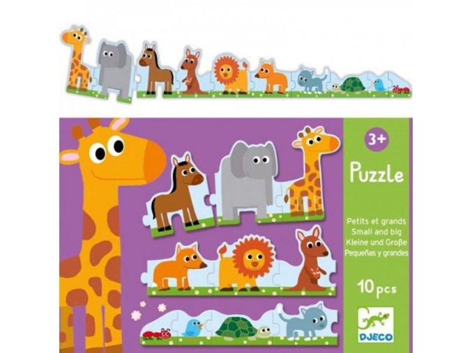 Djeco Puzzle Od největšího...