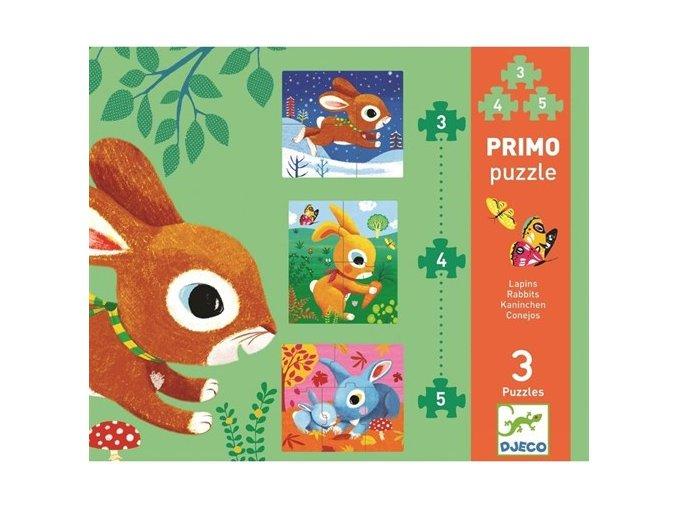Djeco Puzzle pro nejmenší - Zajíčci