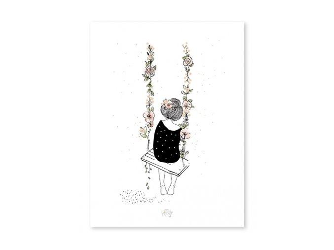 Lilipinso Plakát  Houpačka 30 x 40 cm