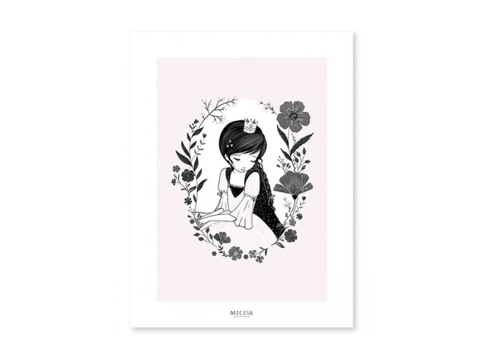 Lilipinso Plakát Princezna a květiny 30 x 40 cm