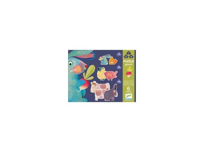 Djeco Puzzle gigant - Pampeliška a přátelé