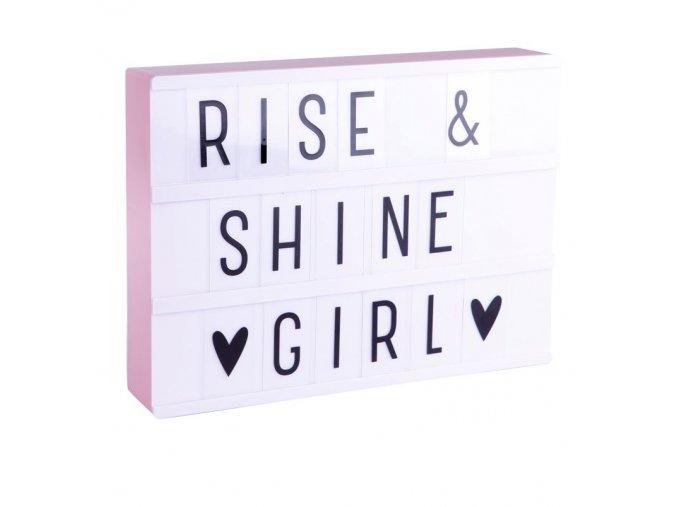 Svítíci box Light box s nápisy A4 růžový