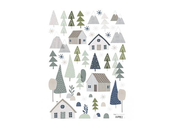 stickers maisons arbres deco enfant lilipinso s1138 a3 foret