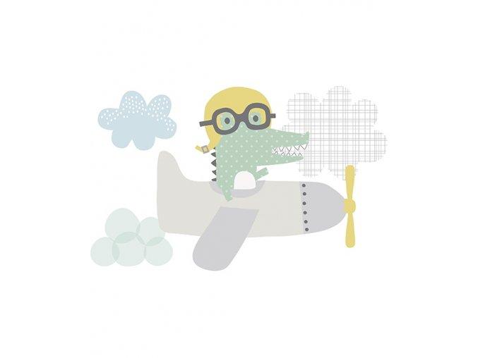 s1063 xl stickers crocodile deco chambre bebe lilipinso