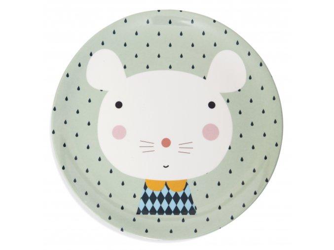Melamine plate mouse drops MPB27