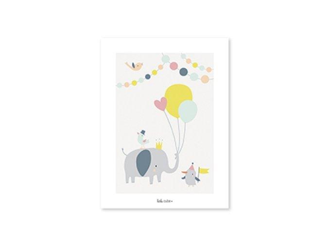 p0197 smimg affiche animal cirque bebe lilipinso 1