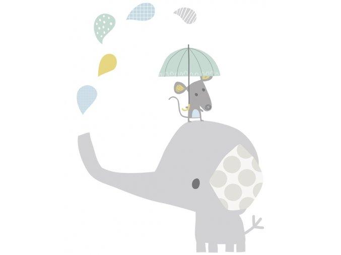 s1059 xl stickers elephant souri deco chambre bebe lilipinso