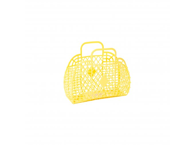 Yellow Retro basket small