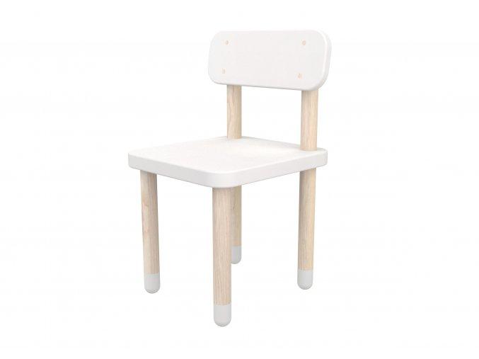 Flexa Židlička s opěrkou bílá