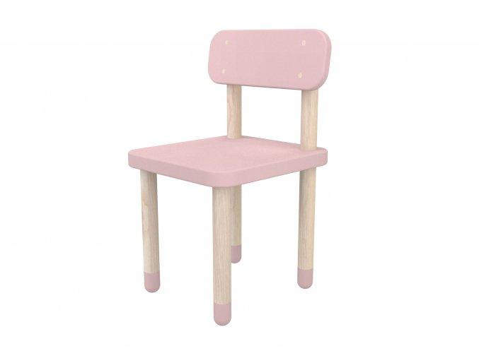 Flexa Židlička s opěrkou růžová