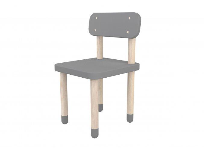 Flexa Židlička s opěrkou šedá