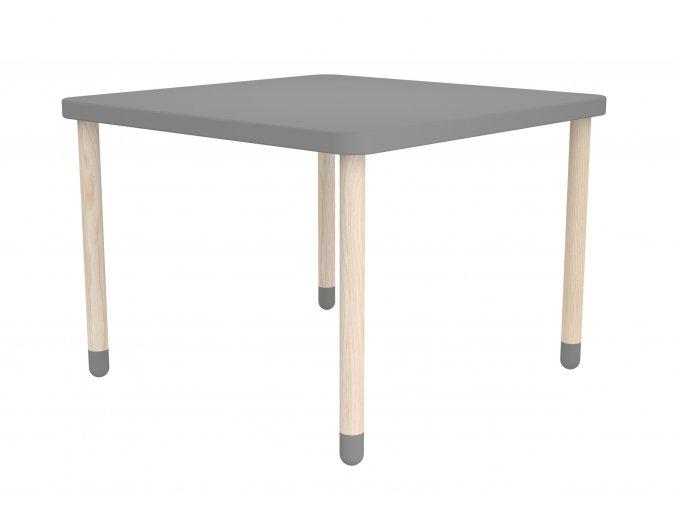 Flexa Hranatý stoleček šedý