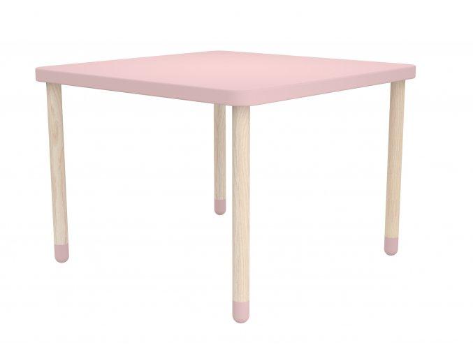 Flexa Hranatý stoleček růžový