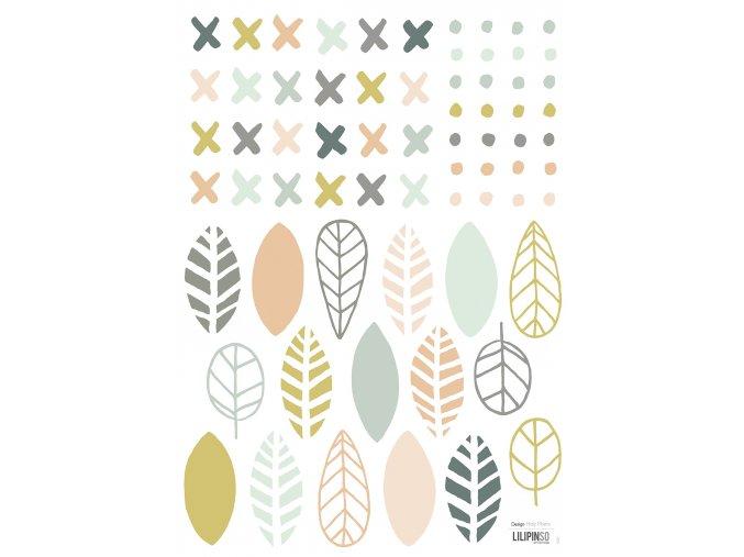 S1201 A3 leaf & geometric elements