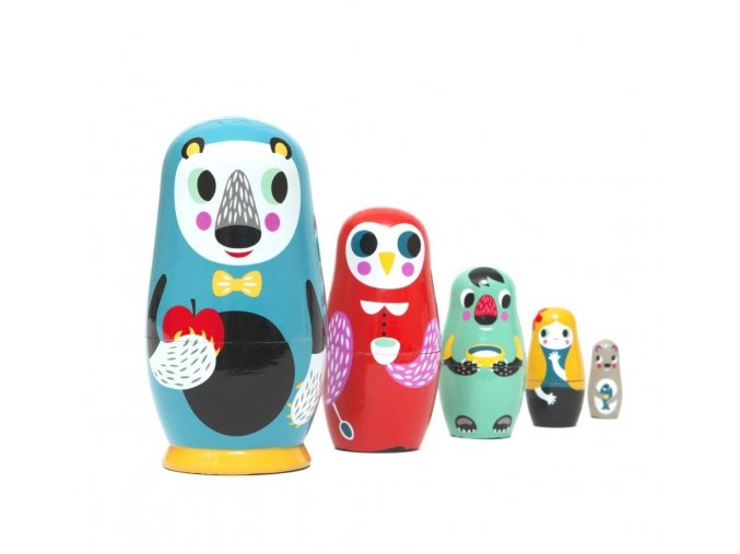 in the woods nesting dolls c web