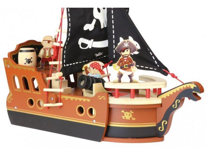 Vilac Dřevěná pirátská loď