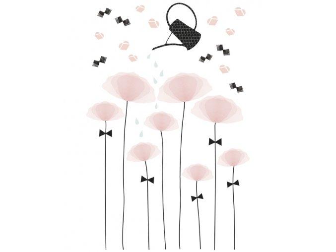 s1129 xl stickers fleurs coquelicot romantique fille lilipinso