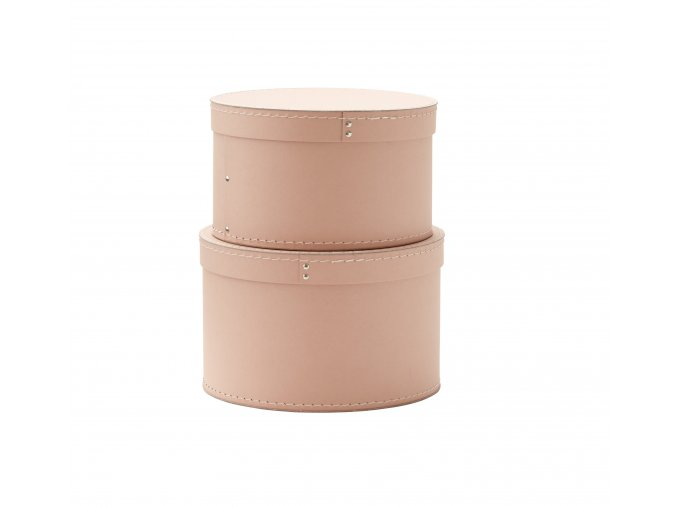 1000227 Storage Box Round 2 set Pink