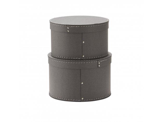 1000229 Storage Box Round 2 set Grey