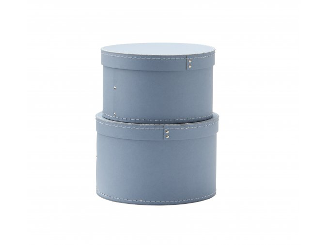 1000228 Storage Box Round 2 set Blue