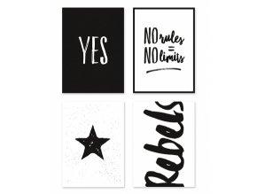 p0227 cartes postales rebels black white