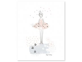 grand poster ballerine rose enfant p0202