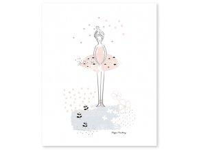 grand poster ballerine rose enfant p0202