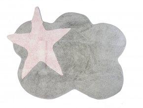 Aratextil Mimosa šedo růžový 120 x 160 cm